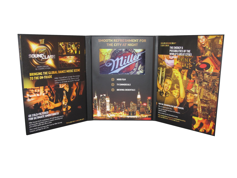Tri-folding video brochure for SAB Miller.