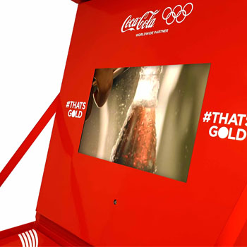 Coca Cola Video Box detail view of screen.