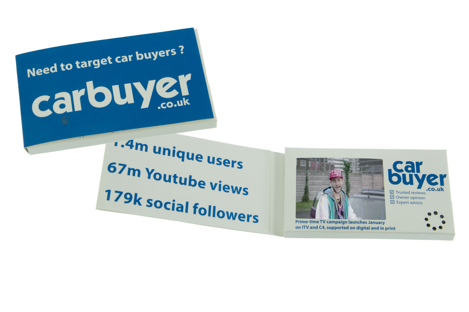 Video in a box car buyer this printed video business card reheart Image collections